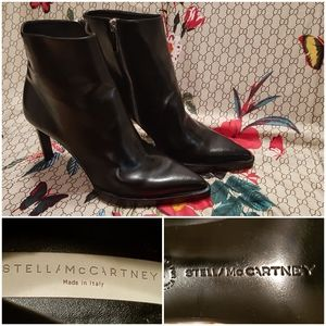STELLA McCartney Leather ankle boots NEW 9